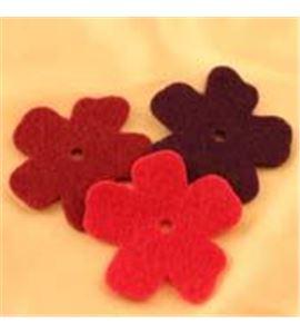 Fieltro set 6 flores rosa / púrpura / violeta - FE21MAF