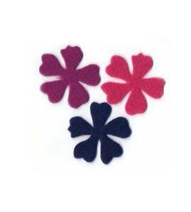 Fieltro set 6 flores violeta / rosa / púrpura - FE23MAF