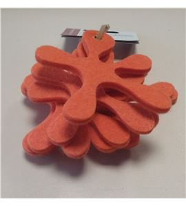 Fieltro set 8 hojas splash naranja - FE3702
