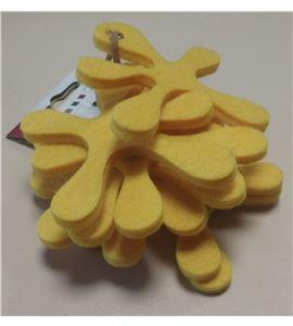 Fieltro set 8 splash amarillo - FE3704