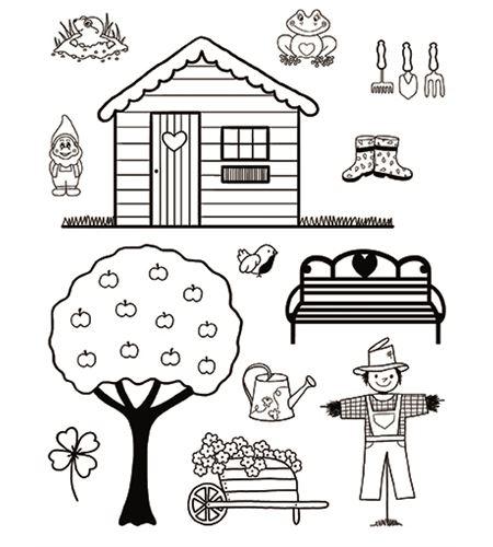 Set de sellos transparentes - casa de campo - 10001296 (2)