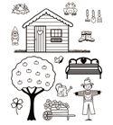 Set de sellos transparentes - casa de campo