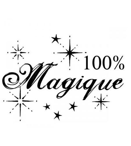 Sello de madera - 100% magique - ARTHD702