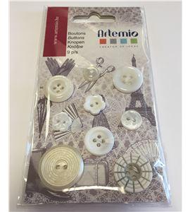 Botones vintage - blanco - 11006626