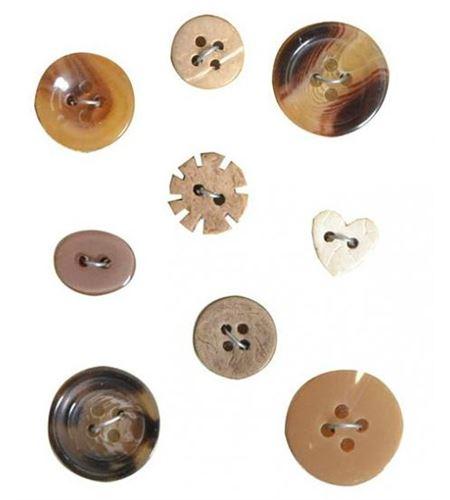 Botones vintage - marrón - 11006628
