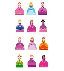 Autoadhesivos 3d princesas multicolor - 11004061