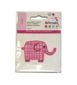 Parche adhesivo bordado - elefante - 13063015