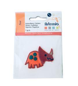 Parche adhesivo bordado - rinoceronte naranja - 13063021