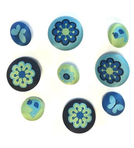 Set de botones bordados - naturaleza - 13064010