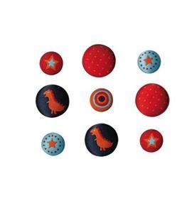 Set de botones bordados - dinosaurios - 13064013