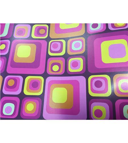 Hoja de papel retro cuadros 50 x 70cm. - 12001032