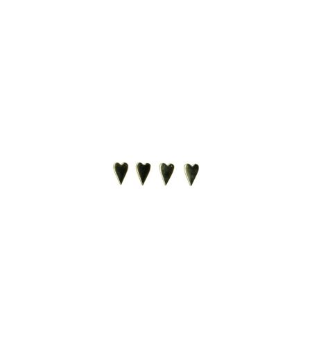 Brads para manualidades - corazones dorados - 11006437
