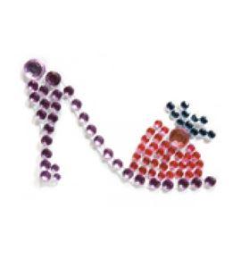 Zapato de strass adhesivo - 11006265