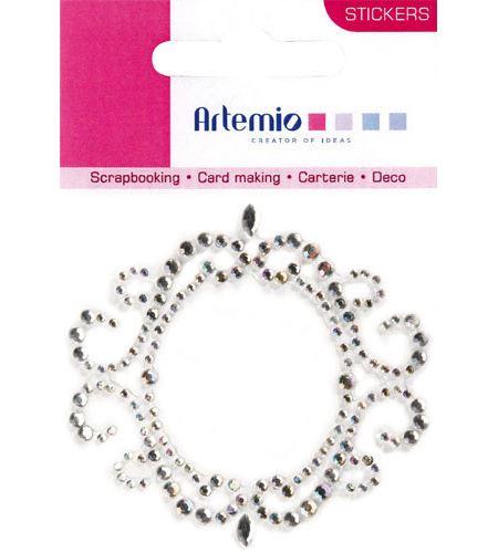 Silueta espejo de strass adhesivo - 11006276