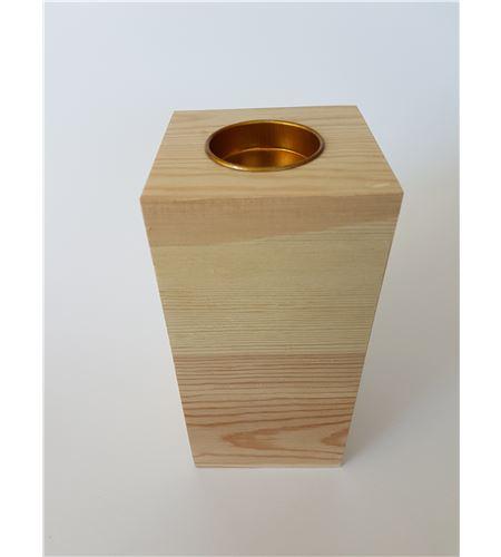 Porta velas de madera 16*7cm - 14001060