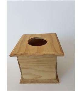 Caja porta pañuelos madera 15*15*15cm - 14001157