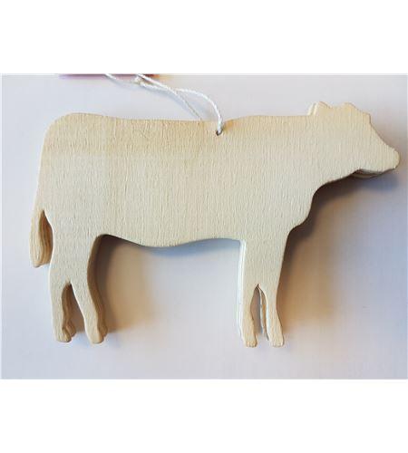 Juego de 3 siluetas madera - vaca - 14001176