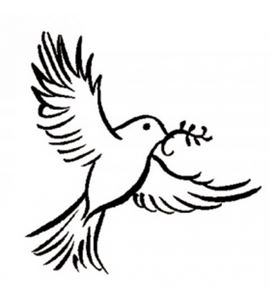 Sello de madera - paloma - PEC2365