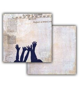Papel de scrapbook - hands - 19404