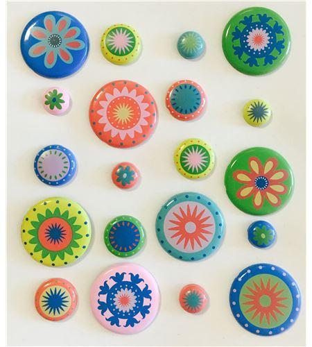 Set de brads/encuadernadores - flores - 11006842