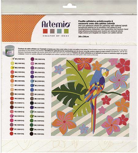 Hoja adhesiva precortada - papagayo - 11002273