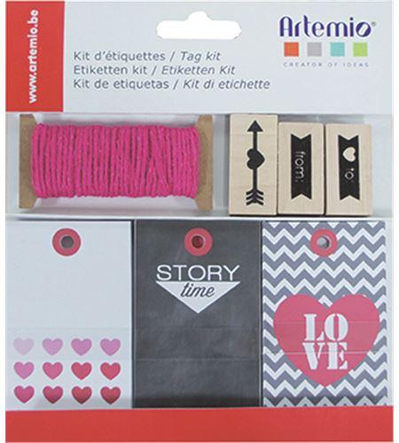 Kit de etiquetas y sellos - love - 11002266