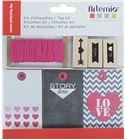 Kit de etiquetas y sellos - love