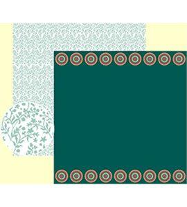 Papel de scrapbook - hojas verdes - 11001596