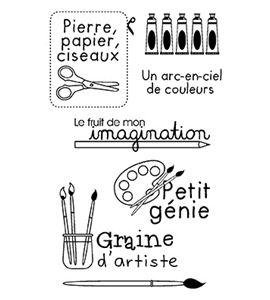Set de sellos transparentes - artist - 10040031