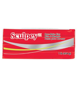 Sculpey iii - red hot red 454g. - 31583