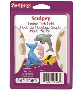 Molde sculpey - sea life - 9306