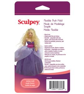 Molde sculpey - woman doll - APM71