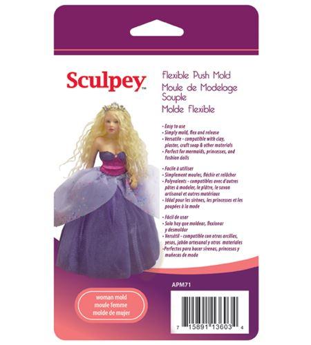 Molde sculpey - woman doll - APM71