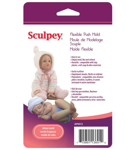 Molde sculpey - infant doll - APM72