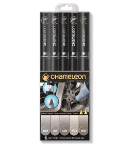 Set 5 rotuladores chameleon - gray tones - CT0509