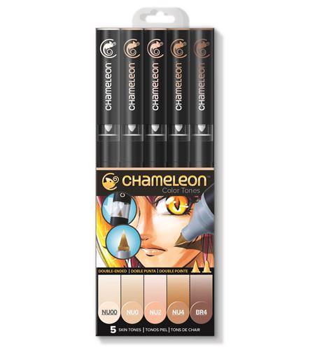 Set 5 rotuladores chameleon - skin tones - CT0510