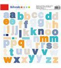Adhesivos para scrapbook - abecedario azul