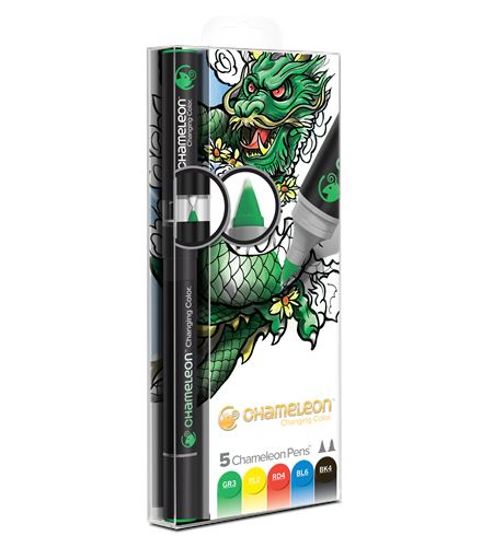 Set 5 rotuladores chameleon - primary tones - CT0502