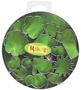 Cortador makin´s - caja metálica flores/hojas 15 p - 37005