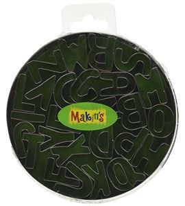 Cortador makin´s - caja metálica abecedario 26 pc. - 37001