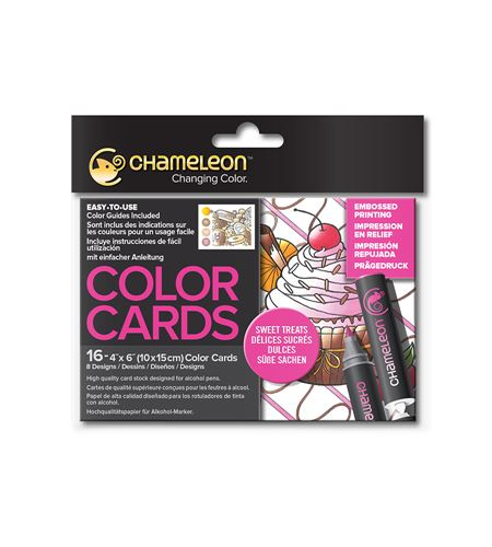 Color cards - sweet treats - CC0108