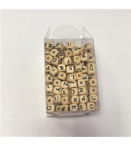 Perlas de madera - letras - 14001694