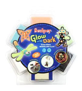 Kit infantil sculpey - glow in the dark - K34064