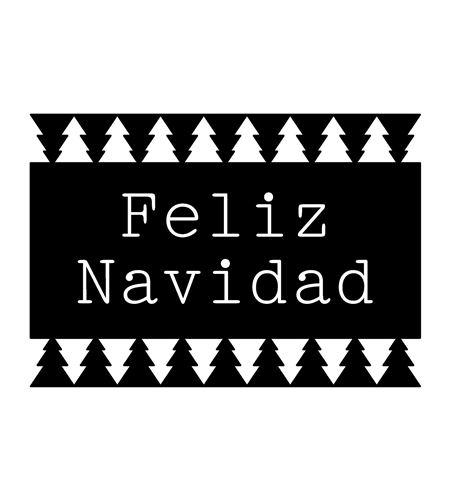 Sello de madera - feliz navidad - ARTHD691