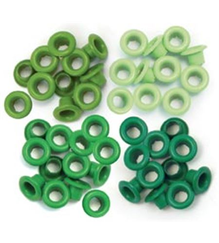 Set de eyelets - 4 tonos verde 60pc. - 415763