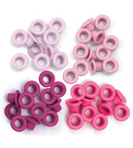 Set de eyelets - 4 tonos rosas 60pc. - 41580-0