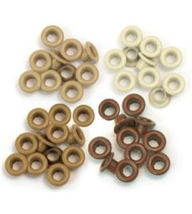 Set de eyelets - 4 tonos tierra 60pc. - 41581-7