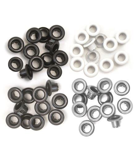 Set de eyelets - 4 tonos neutros 60pc. - 415824
