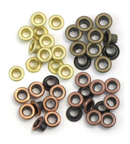Set de eyelets - 4 tonos cobre 60pc. - 415831