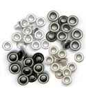 Set de eyelets - 4 tonos gris 60pc.